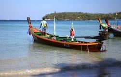 Bateau de Longtail en Thaïlande Images stock