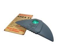 Bateau de mère d'UFO avec le signe Photographie stock libre de droits