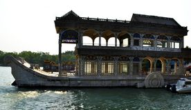 Bateau de marbre ou bateau de la pureté, Pékin, Chine images libres de droits