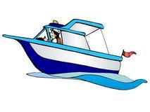 Bateau de mer de dessin animé illustration libre de droits