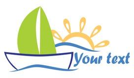 Bateau de mer le soleil Image libre de droits
