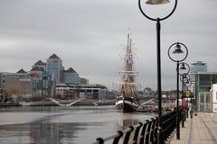 Bateau de navigation à Dublin Image stock