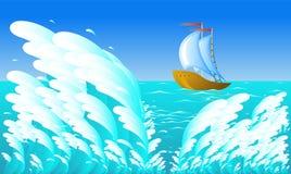 bateau de navigation Image stock