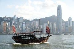 Bateau de navigation chinois image libre de droits