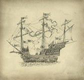 Bateau de navigation d'imagination illustration stock