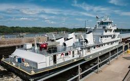 Bateau de péniche du Mississippi image stock