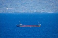 Bateau de pétrolier sur la mer Image stock