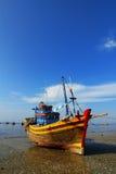 Bateau de pêche à la plage au Vietnam Photos libres de droits