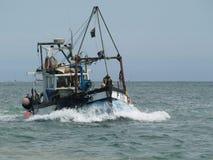 Bateau de pêche anglais Images libres de droits