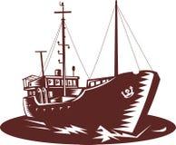 Bateau de pêche côtier de commerçant Image stock