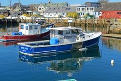 Bateau de pêche chez Rockport, le Massachusetts Photos stock