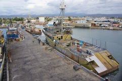 Bateau de pêche commercial de thon Photo stock