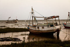 Bateau de pêche d'Amazone Photos stock