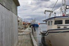 Bateau de pêche dans le port 3123 A image stock
