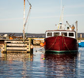 Bateau de pêche de homard image stock