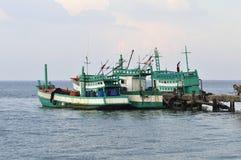 Bateau de pêche de la Thaïlande image stock