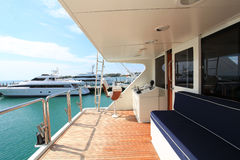 Bateau de pêche de yacht Images stock