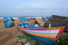 Bateau de pêche du Kerala images stock