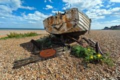 Bateau de pêche du Suffolk d'Aldeburgh vieux Images libres de droits
