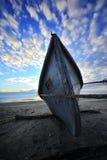 Bateau de pêche en bois Photographie stock libre de droits