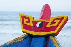 Bateau de pêche en bois coloré à la mer de Chinois de sout Photographie stock libre de droits