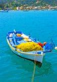 Bateau de pêche grec Images stock