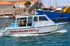 Bateau de pêche grec Photos libres de droits