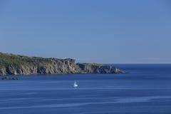 Bateau de pêche, port de Twillingate Images stock