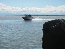 Bateau de pêche rapide Photos stock