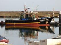 Bateau de pêche Santa Luzia Portugal Photographie stock