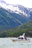 Bateau de pêche saumoné de l'Alaska Skagway Photographie stock