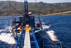 Bateau de pêche sicilien Image libre de droits