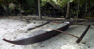 Bateau de pêche sur la plage d'île de Panglao Photographie stock