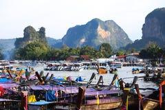 Bateau de pêche thaïlandais de style Photo libre de droits