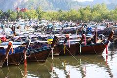 Bateau de pêche thaïlandais de style Photographie stock libre de droits