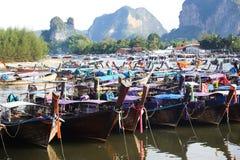 Bateau de pêche thaïlandais de style Photo stock
