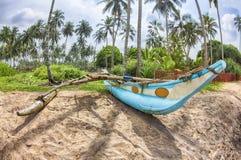Bateau de pêche traditionnel dans Sri Lanka Image libre de droits