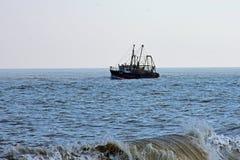 Bateau de pêche, Winterton-sur-mer, Norfolk, R-U Image stock