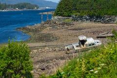 Bateau de pêche Wrecked Images stock