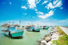 Bateau de pêcheur en Thaïlande Images libres de droits