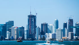 Bateau de paysage de Miami Photos stock