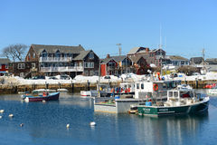 Bateau de pêche chez Rockport, le Massachusetts Image libre de droits