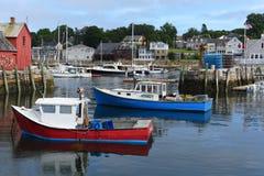 Bateau de pêche chez Rockport, le Massachusetts Photographie stock libre de droits