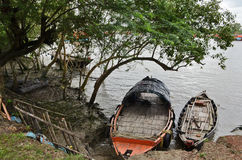 Bateau de pêche chez Sundarban Photo stock