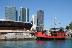 Bateau de pirate à Miami, la Floride Images libres de droits