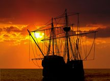 Bateau de pirate Image libre de droits