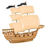 Bateau de pirate Images stock