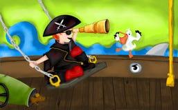 Bateau de pirate Photographie stock
