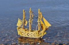 Bateau de pirate de pâtes Image libre de droits