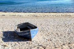 bateau de plage Photographie stock libre de droits